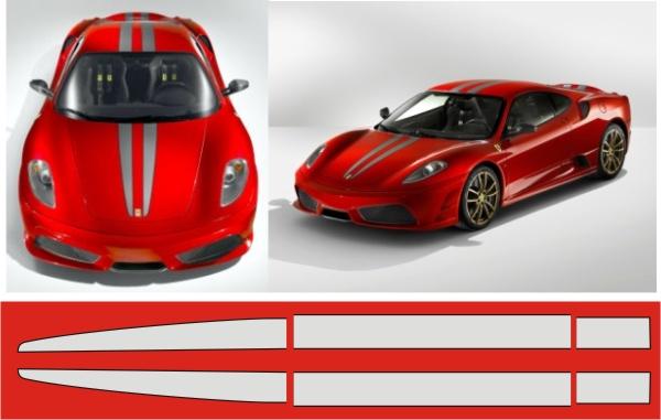 Strisce stile ferrari 430 scuderia for Tre kit di garage per auto