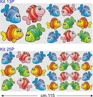 Kit adesivi per camper kit pesciolini colorati by for Immagini pesciolini